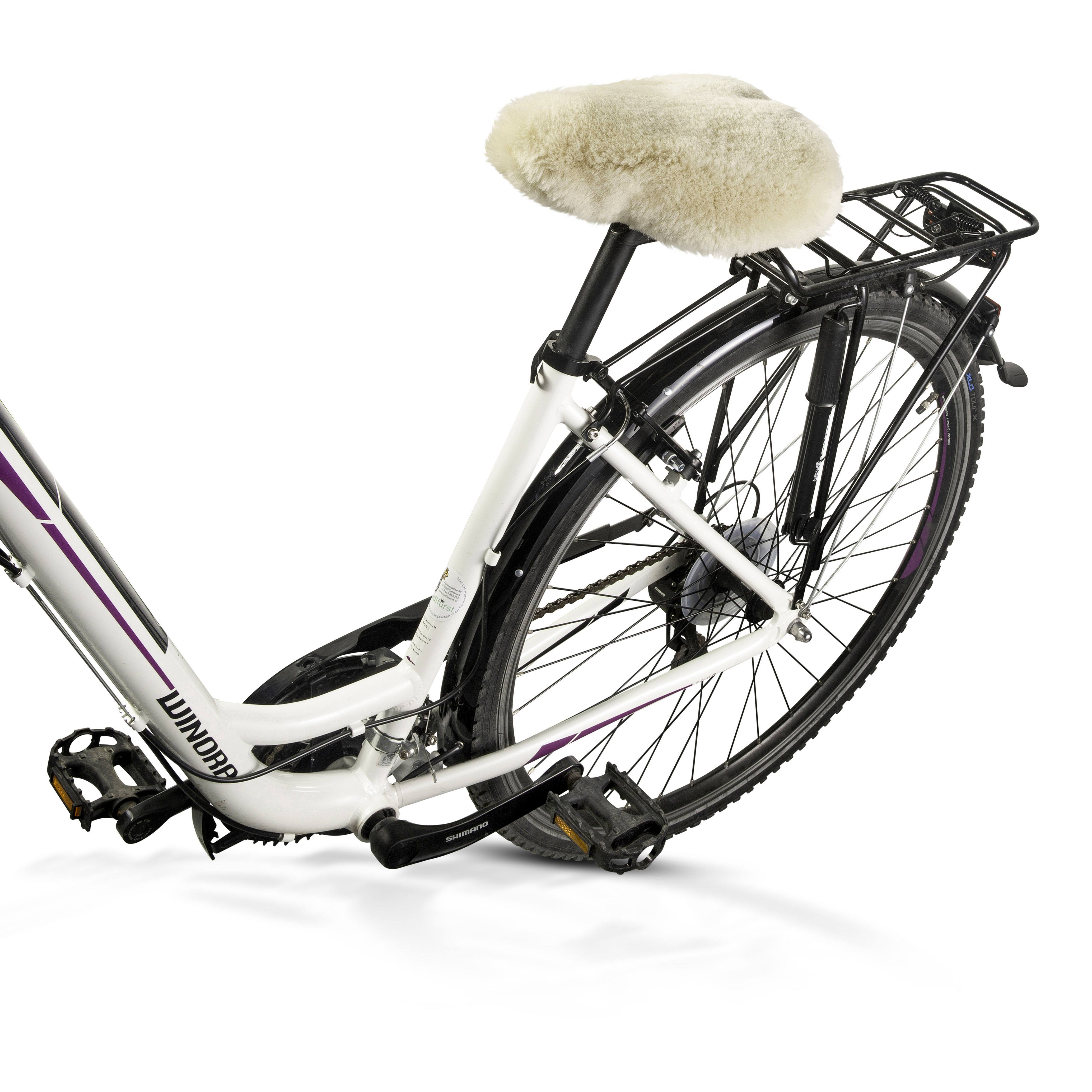 Fellhof Lambskin Bike Seat Cover