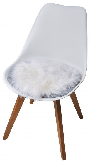 Lambskin Seat Pad, White, 34 cm