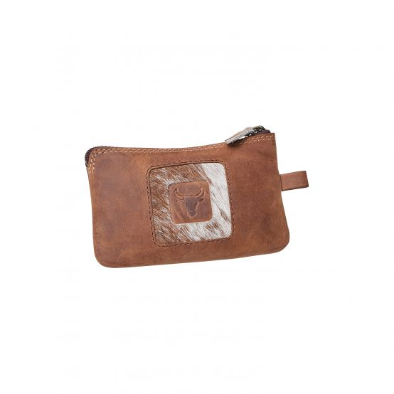 Wallet With Key Ring And Genuine Bullhide