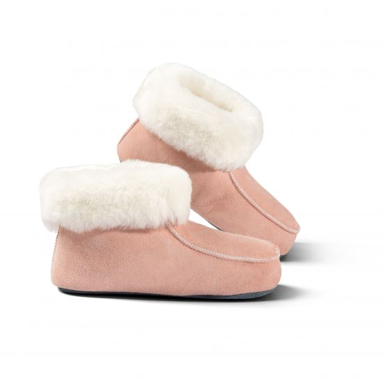 Kids' Slipper Boots with Leather Soles