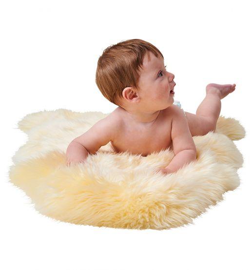 Lammfell Baby-Cozy ungeschoren