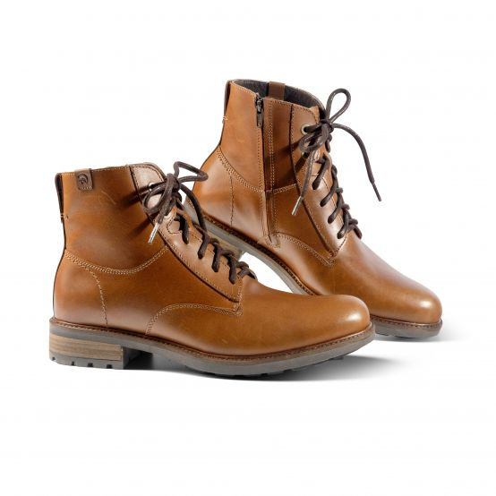 Massimo Men's Lace-Up Lambskin Boots