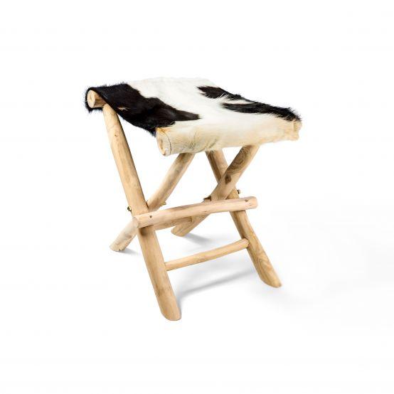 Klappstockerl schwarz-weiß
